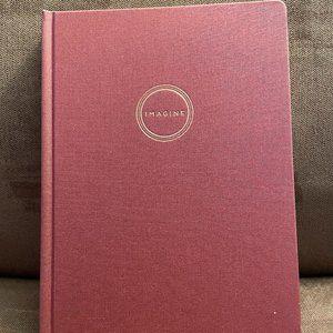 "Burgundy Cloth Journal ""IMAGINE"""